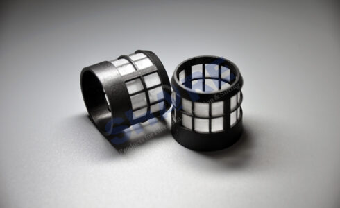 mesh insert injection molded plastic filters